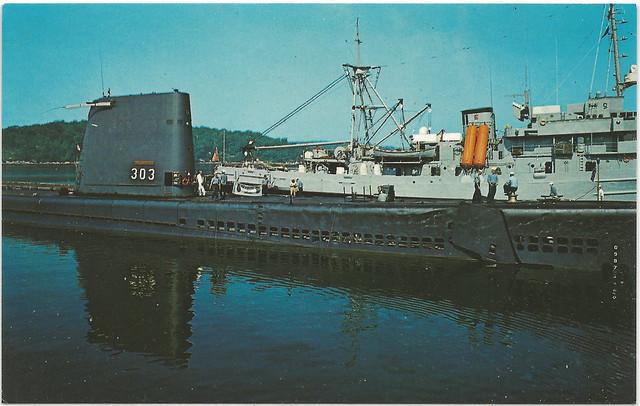 Sablefish Mail: USS SABLEFISH US Navy Balao Submarine SS-303 At Dockside