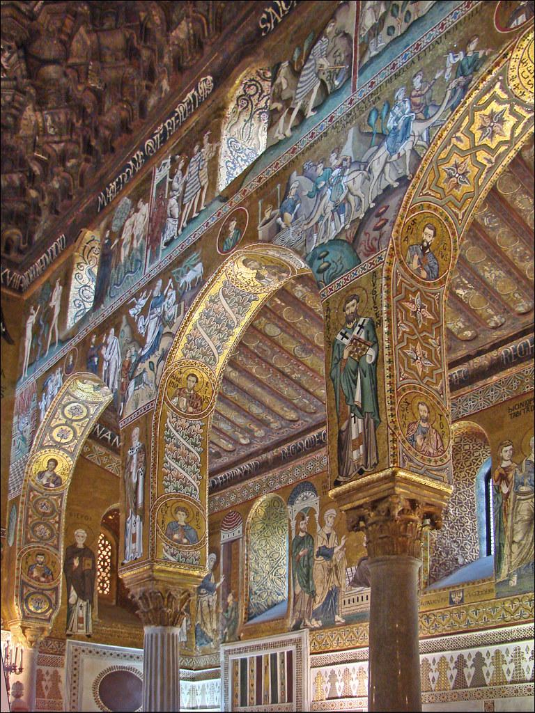 Mosaïques de la Chapelle palatine (Palerme) | Les 3 nefs ...