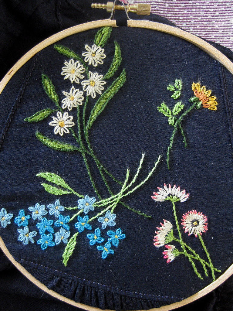 Flower embroidery i finally finished an embroidered