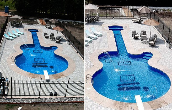 related images. Guitar Shaped Swimming Pool ...