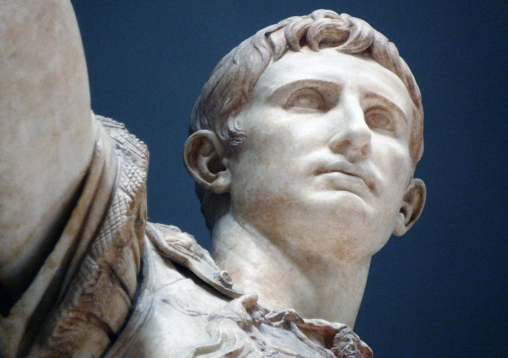 Augustus Of Primaporta Detail Looking Up At Face