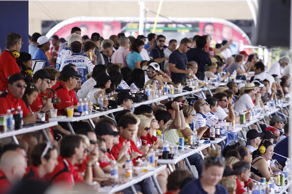 Full up - pit lane hospitality suites at the Honda Indy To ...