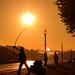 Pescador en el Duero
