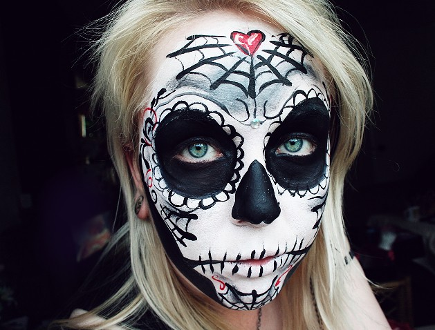 Simple Candy Skull Face Paint