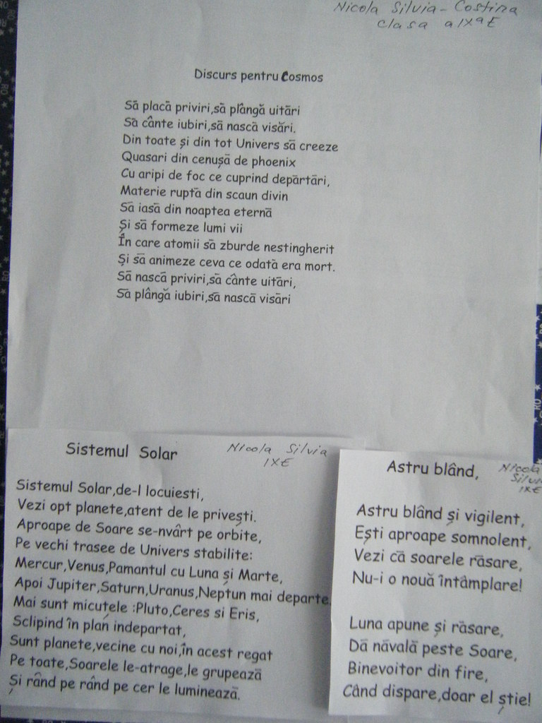 Nicola Silvia, 9 E, poezii (1) | Proiect Saptamana Mondiala