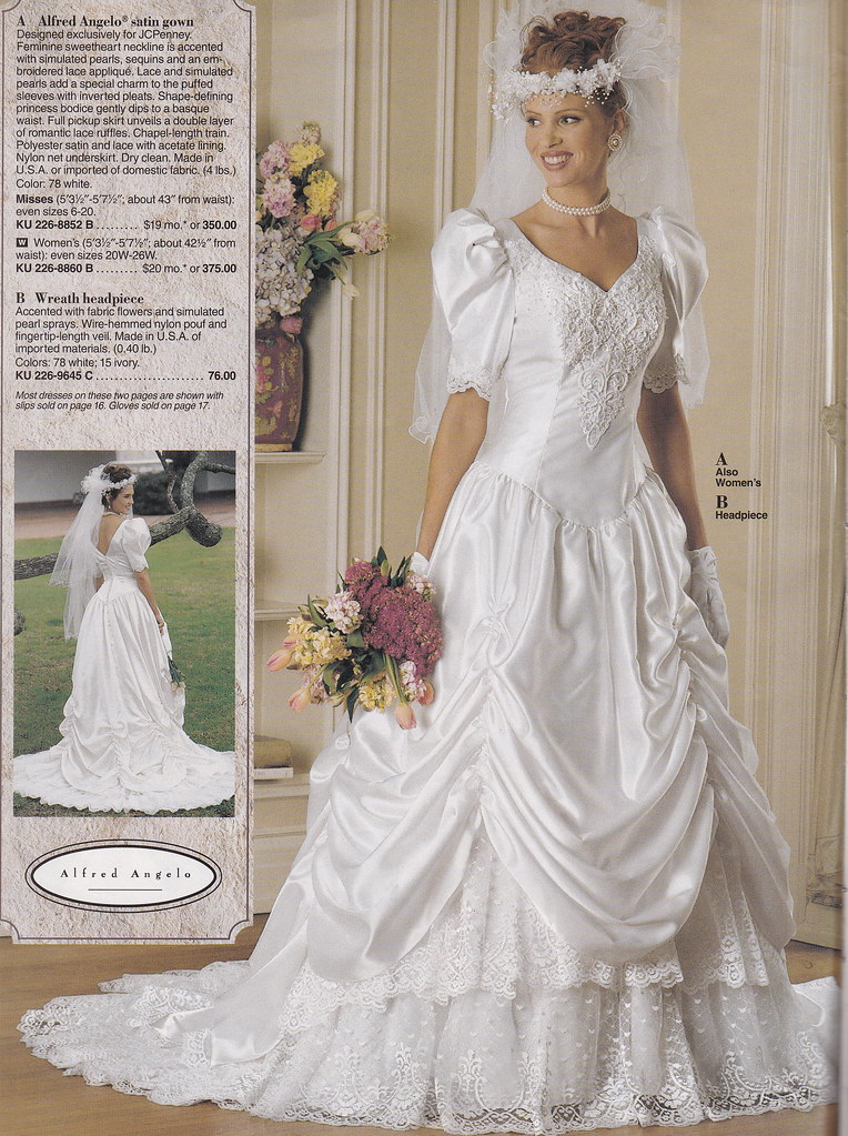 From a mid 90 39 s jc penney bridal catalog a very pretty for Jc pennys wedding dresses