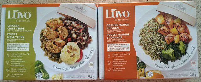 2016-Jul-10 LUVO - frozen entrees tested