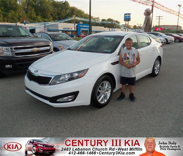 century 3 kia would like to say congratulations to lauren lubash on the 2013 kia optima from. Black Bedroom Furniture Sets. Home Design Ideas