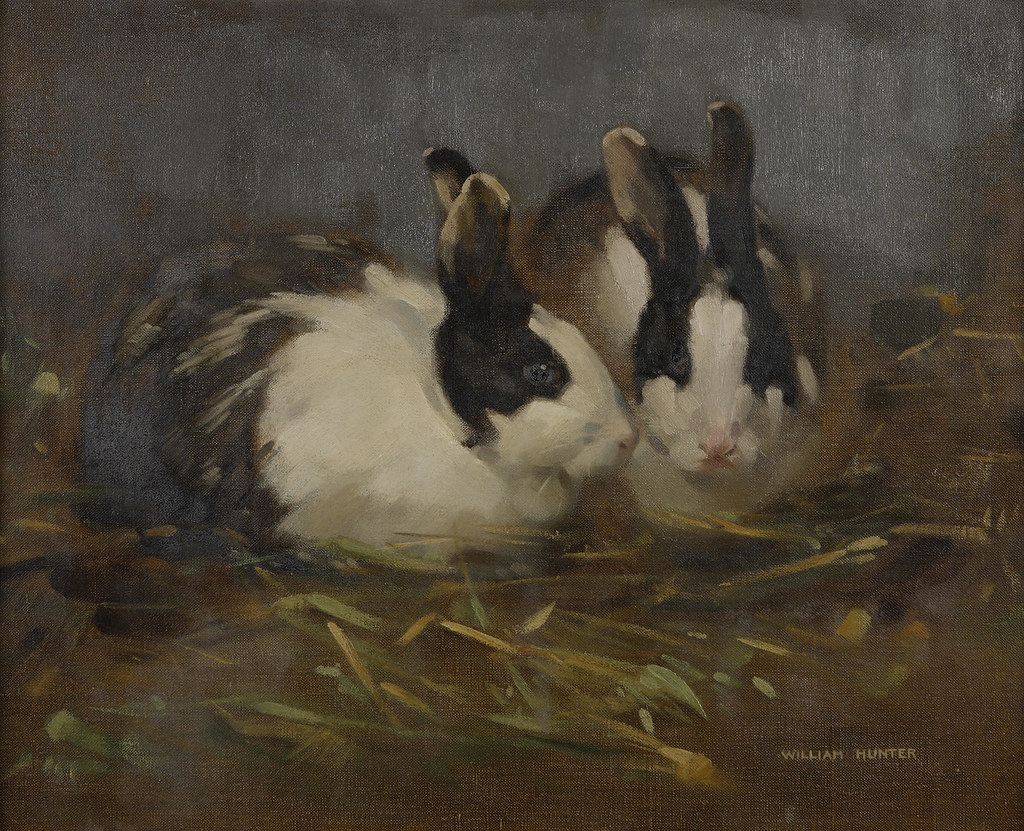 Rabbit Oil Painting For Sale