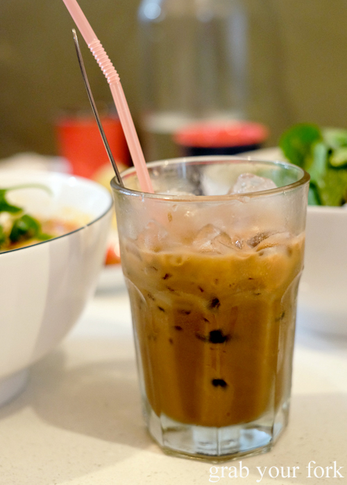 Vietnamese iced coffee at Eat Fuh, Marrickville