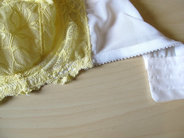 Yellow Lace Marlborough bra