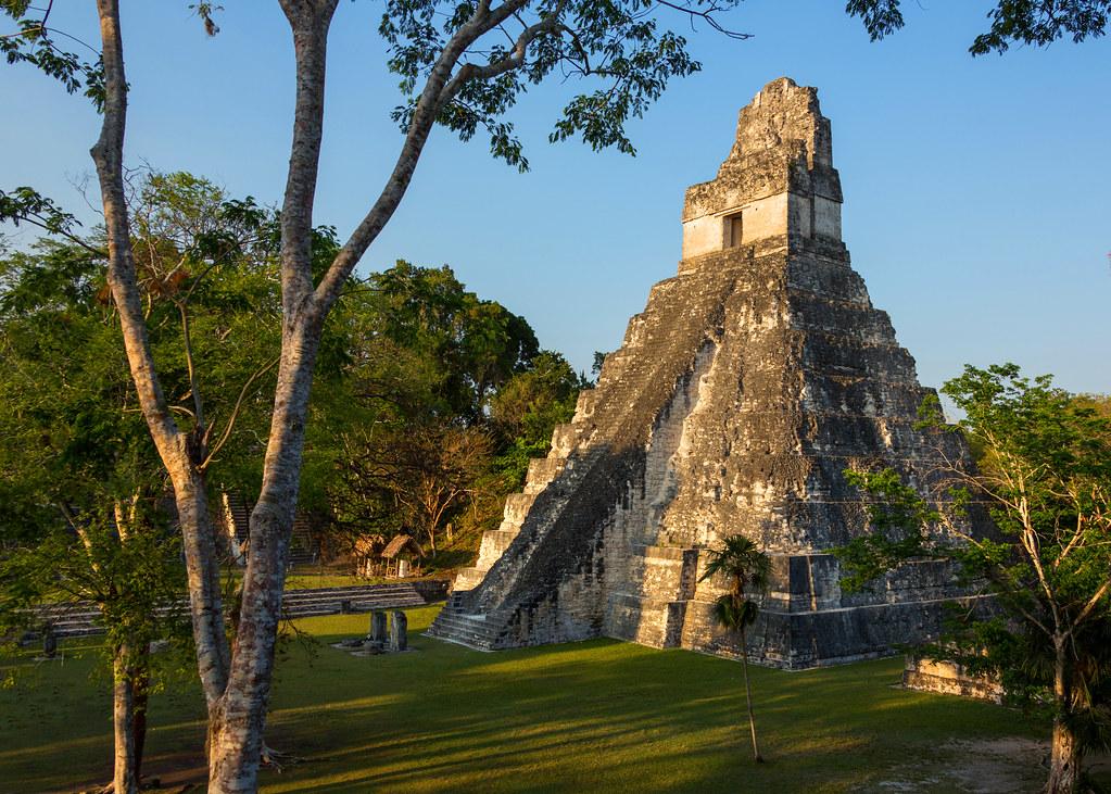 Last Light On Tikal Temple Iv The Mayan Ruins Of Tikal