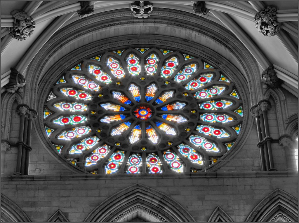 The Rose Window York Minster The Rose Window A Stained