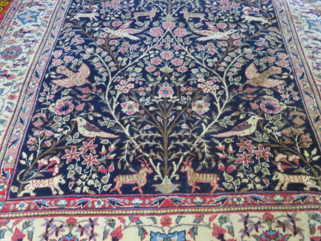 Kerman Tree Of Life Birds Deer Persian Rug