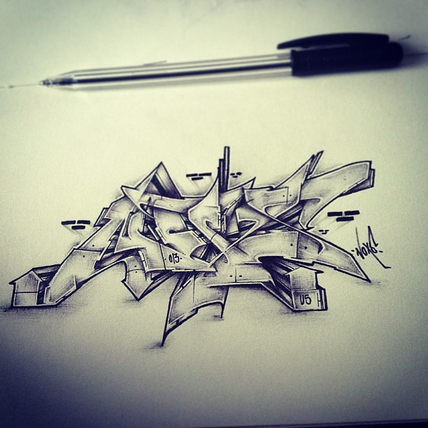 noxs by atew one graffiti wildstyle style sketch hiph