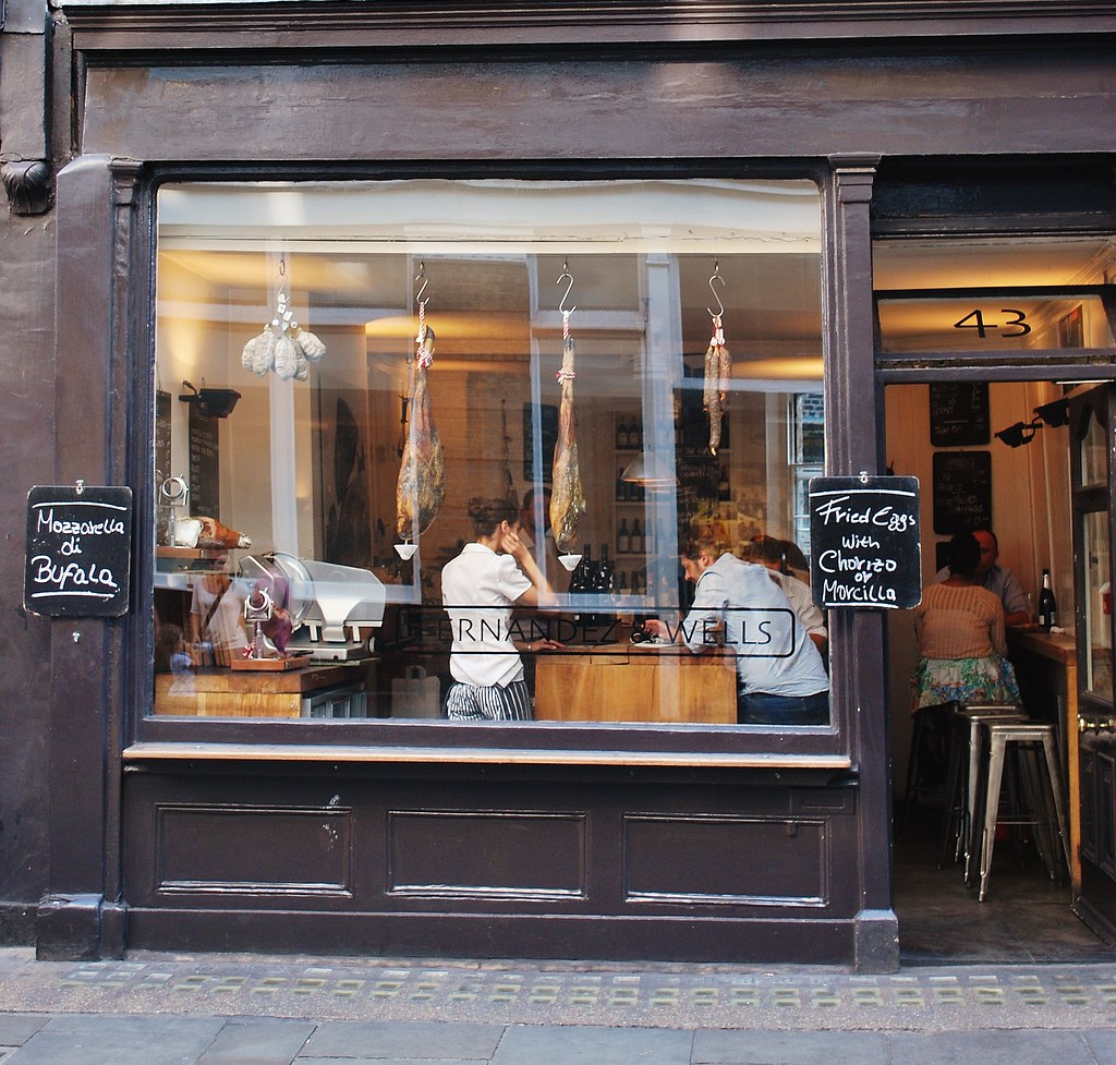 Fernandez wells london camila rom n demo flickr for Restaurant window design