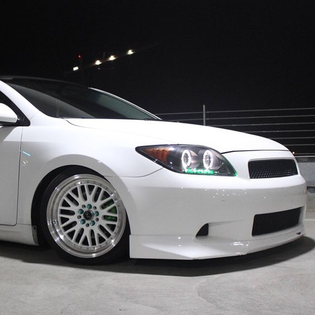 White on white #TC #lowered #Scion #Toyota #lowered #wheel ...