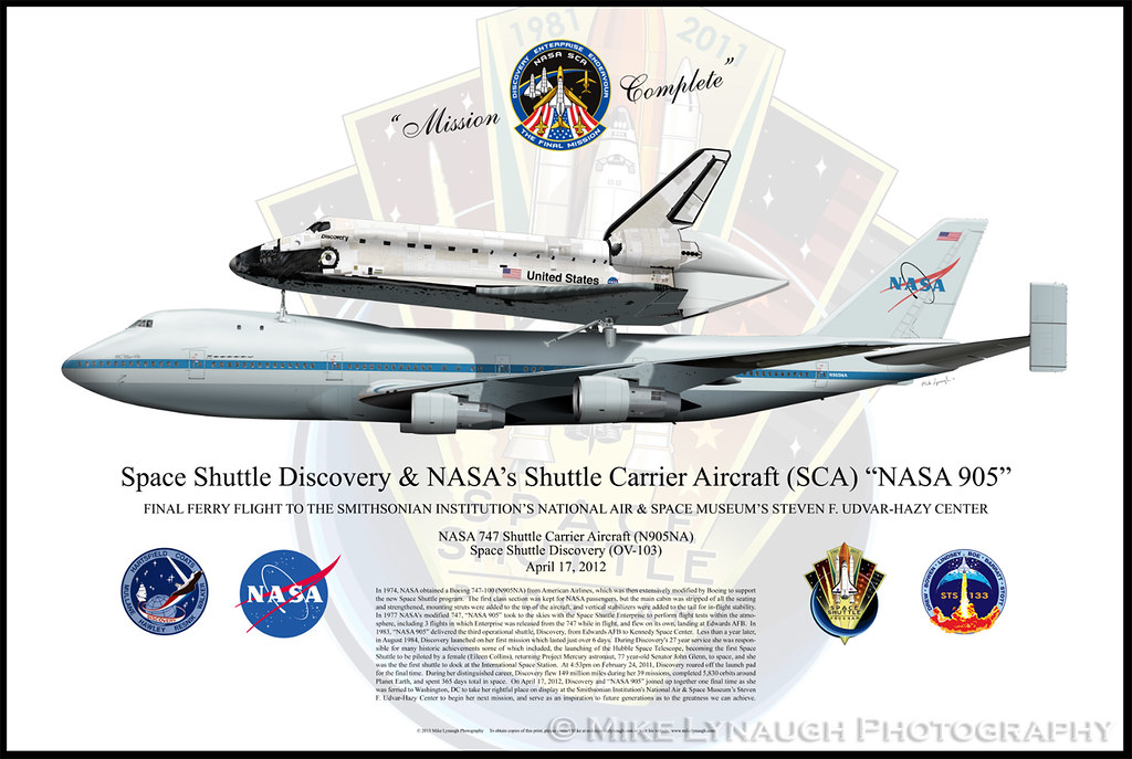 My NASA 905 / Space Shuttle Discovery Profile Print | Flickr