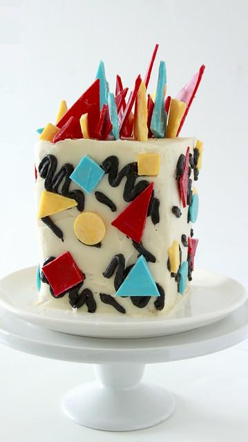 Geometric 80s Cake