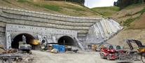 Vista de las obras en el monte Urteamendi