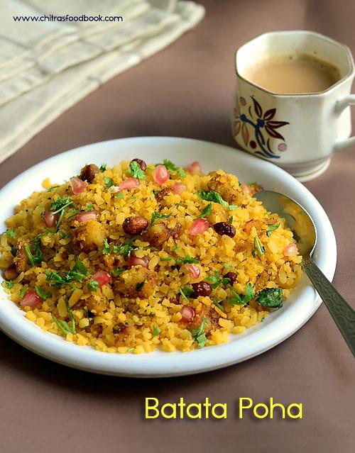 Batata poha -Gujarati Aloo poha