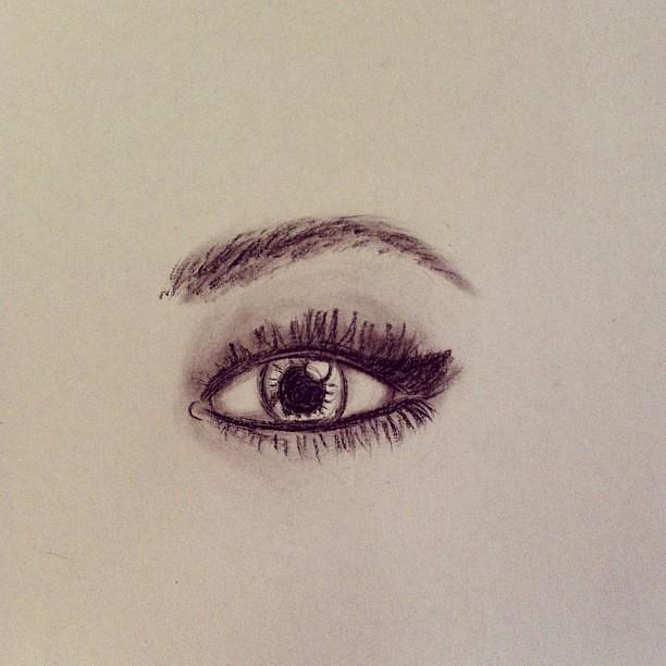 #eye #brow #eyebrow #woman #sketch #doodle #draw #drawing