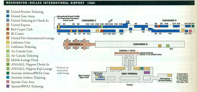 United Dulles Diagram  January 2002