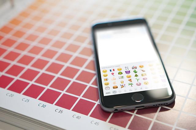 Emojis en un teléfono