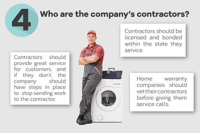 Who are the home warranty company's contractors?