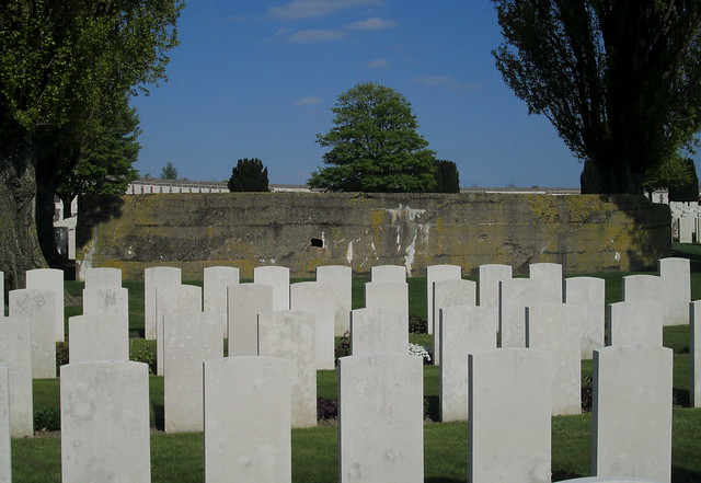 Tyne Cot Cemetery Graves and Remains of Blockhouse