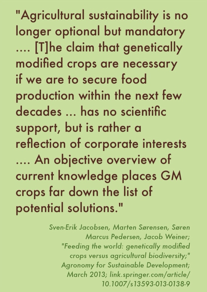 genetically modified food is necessary in