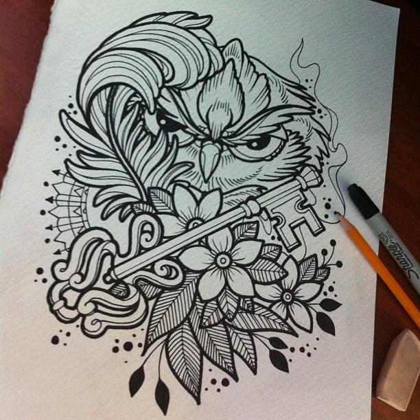 Scketh Owl ta2 tinta tattoo tatuaje skin sc scke Flickr