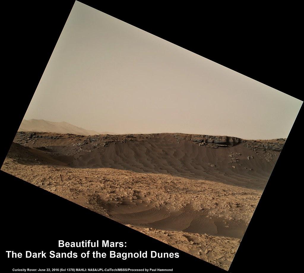 Mars The Dark Sands Of The Bagnold Dunes Curiosity