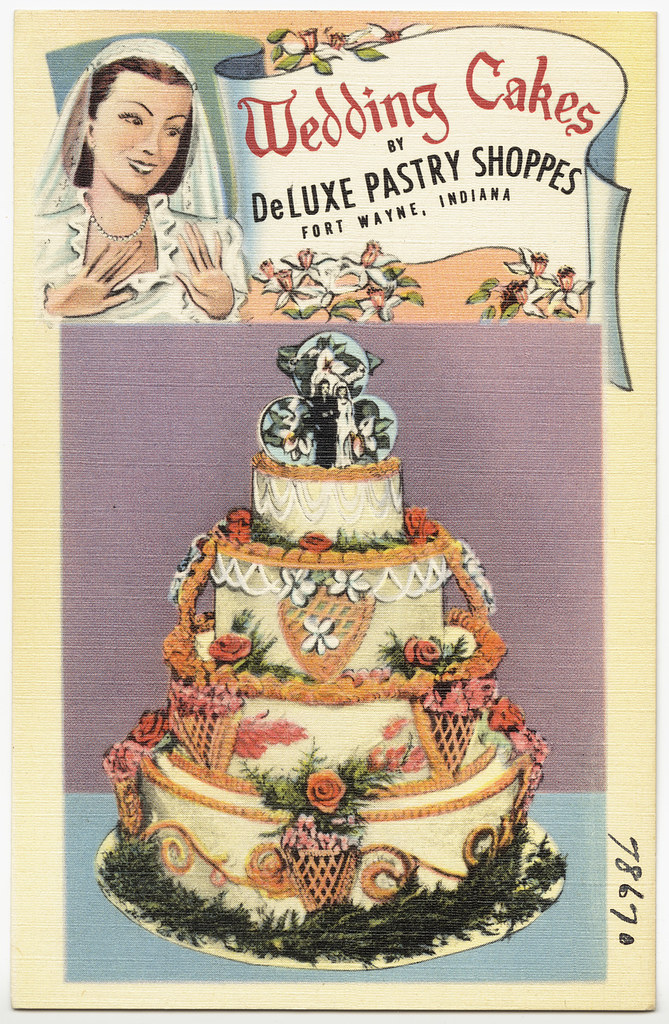 Wedding cakes by DeLuxe Pastry Shoppes, Fort Wayne, Indian ...