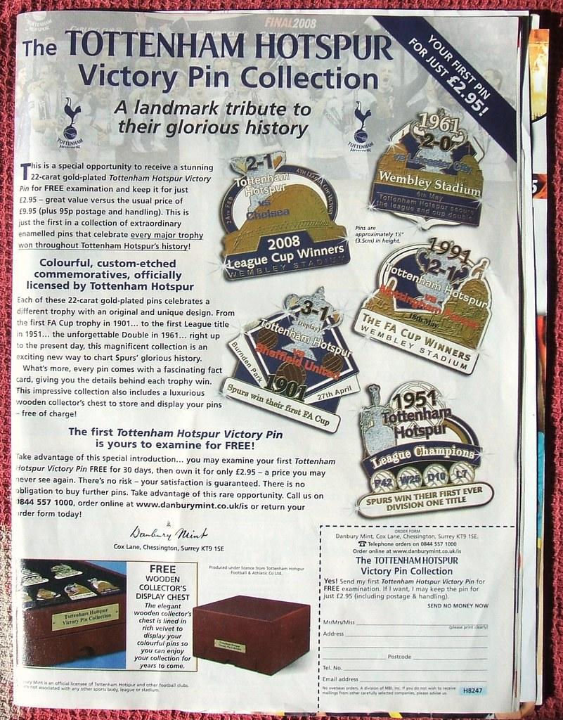 tottenham hotspur victory pin badge collection  danbury mi