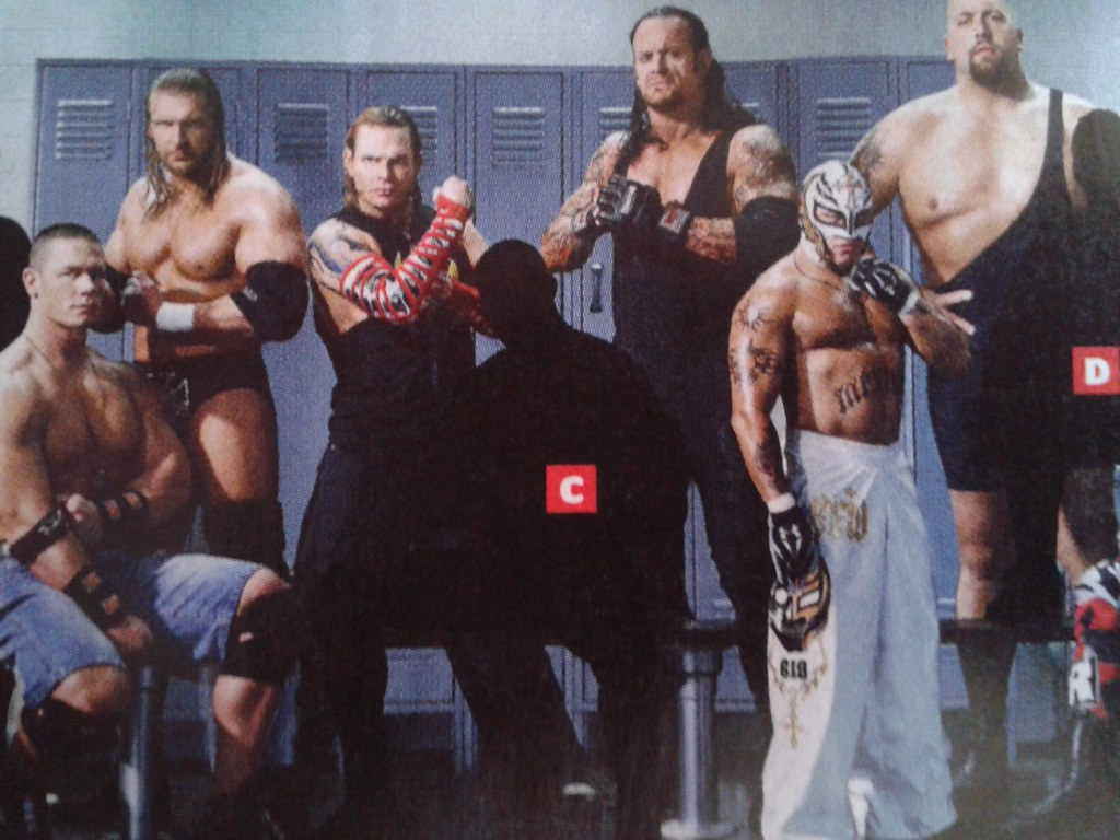 John Cena , Jeff Hardy, Triple H, Undertaker, Rey Mysterio ...