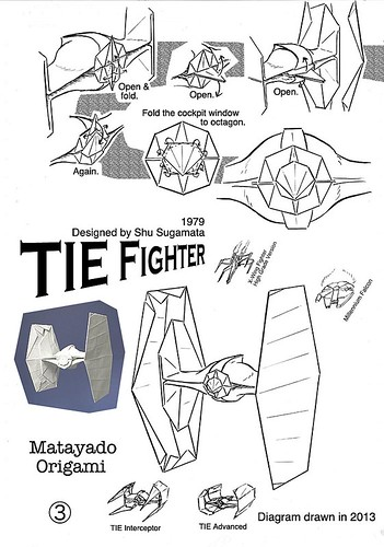 tie fighter origami diagram 3