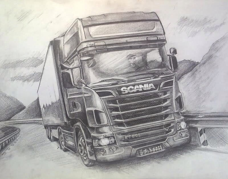 Scania Drawing Hungd13 Flickr