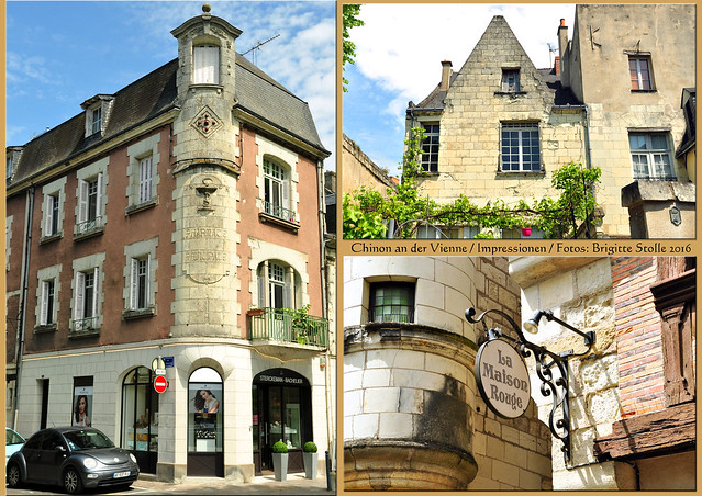 Die französische Stadt Chinon liegt im Département Indre-et-Loire am Ufer der Vienne, einem Nebenfluss der Loire. Es gibt eine imposante mittelalterliche Burgruine und eine malerische Altstadt mit Kopfsteinpflaster und Fachwerkhäusern. Die Burgbesichtigung liegt noch vor uns; die Altstadt haben wir zum Teil erkundet - hier ein paar Impressionen. Foto Brigitte Stolle 2016