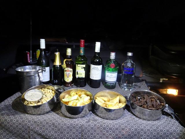Lion Sands Safari Day 3- Cocktails at night