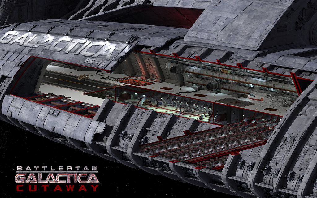 Bsg Cutaway 1920x1200 Battlestar Galactica Cutaway Flickr