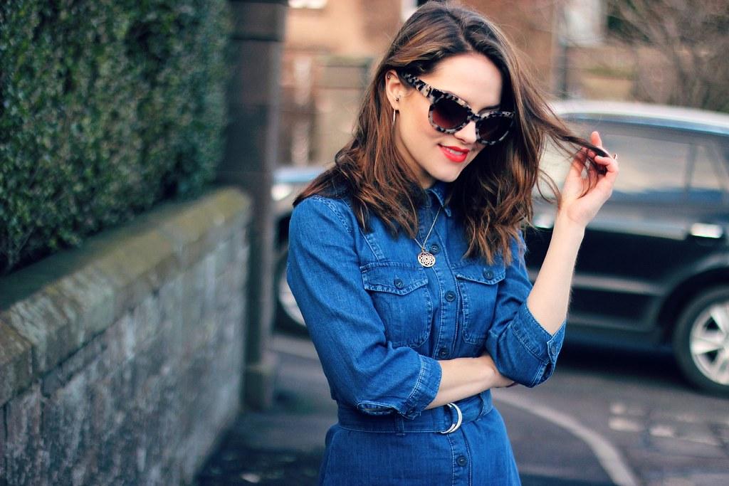 Miss Selfridge blue denim shirt dress 7 | Magpie132 | Flickr