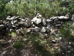 Murets vers le col intermédiaire entre pointe 1089 et Punta Mozza