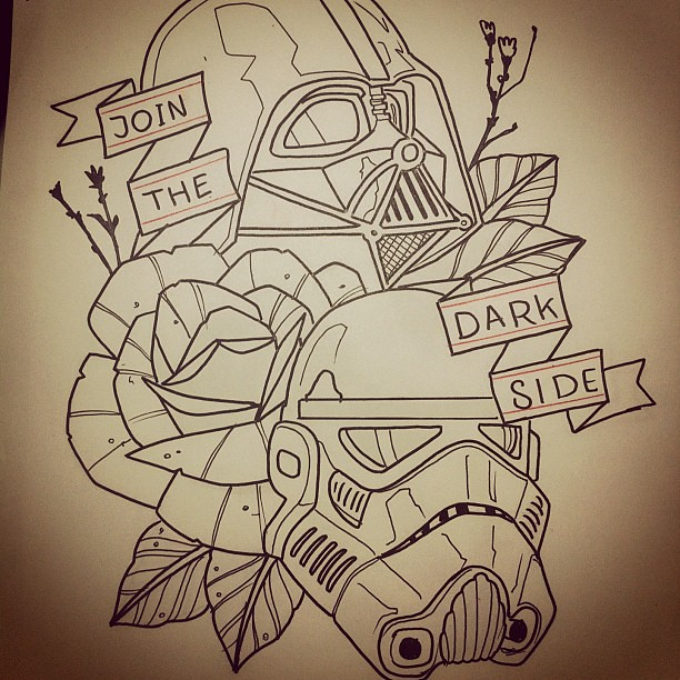 Join The Dark Side we Got Cookies tattoo starwars dart Flickr