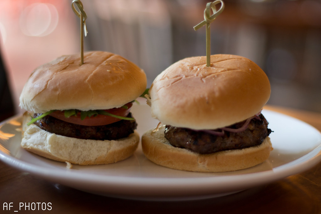 50/50 Burger sliders   50/50 Burger sliders -Arugula ...