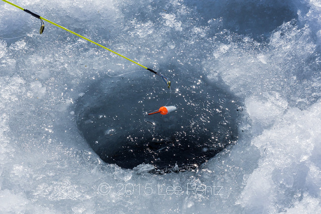 Ice fishing hole in central michigan flickr photo sharing for Ice fishing hole