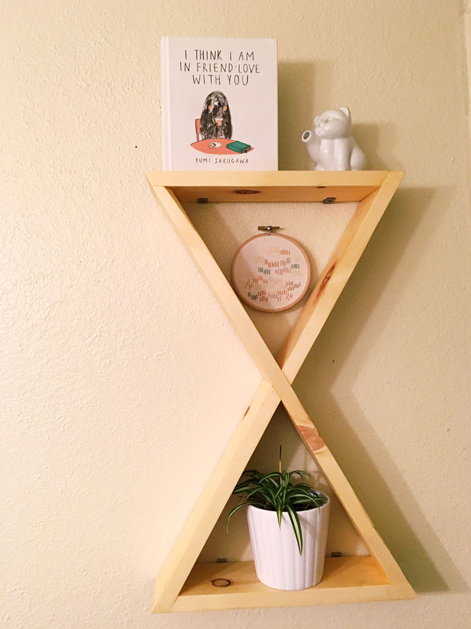 styled double triangle shelf
