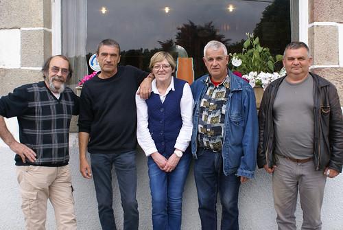 12/06/2016 - Kerlanguis (Kermouster en Plougasnou) : Les finalistes du concours de boules plombées en doublettes formées