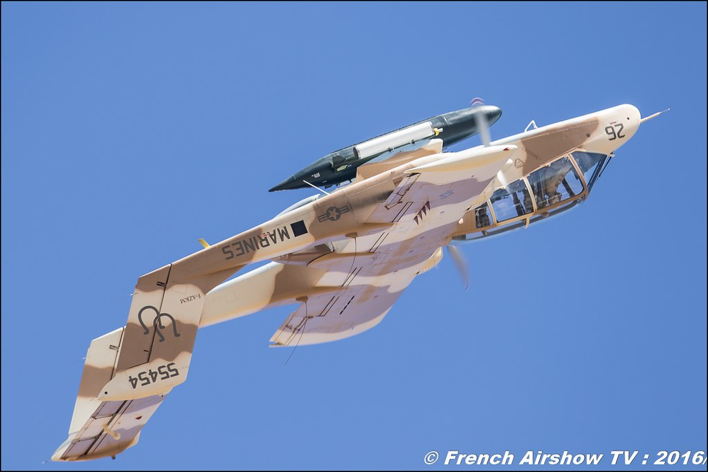 OV 10 Bronco du MEAC de Montelimar , F-AZKM , North American OV-10 B Bronco - Aerotorshow 2016 , gamstat 2016 , meeting aerien valence chabeuil 2016
