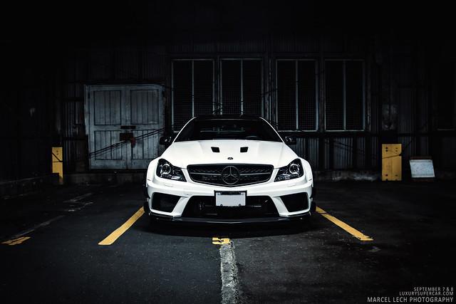 C63 Amg White on Black C63 Amg Black Series   Flickr